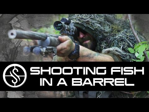 Shooting Fish in a Barrel - Airsoft Sniper Gameplay