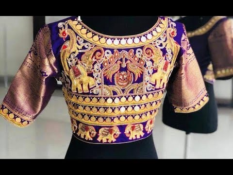 latest kasu work blouses designs