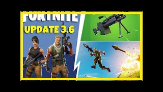 Breaking News | Fortnite Update 3.6: Early Patch Notes revealed by Epic Games with NEW Light Machin