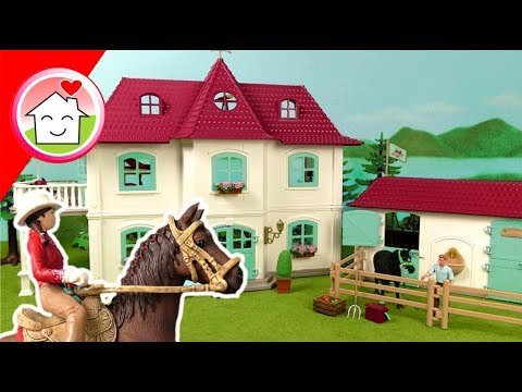 schleich-horse-club-42416-large-horse-stable-with-house-and-stable-unboxing