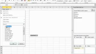 Building A Pivot Table In Excel 2010 -- Part 1