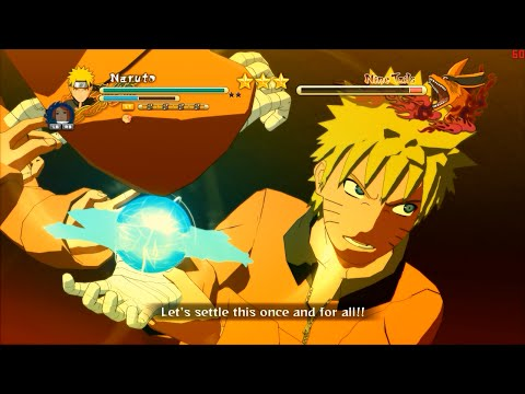 Naruto Ultimate Ninja Storm 3 PC 2016 Mod - Pre Gaiden Naruto vs Kurama Boss Fight Gameplay