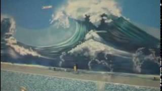 Аэрография стен бассейна в Москве - роспись стен, airbrush