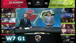 Clutch Gaming Academy vs OpTic Academy | Week 7 of S8 NA Academy League Spring 2018 | CGA vs OPTA