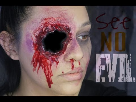See no evil, speak no evil, hear no evil. PART 1: See no evil/ripped eye Makeup tutorial