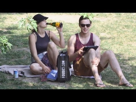 Jennifer Lawrence and Nicholas Hoult Picnic and Drink Champagne | POPSUGAR News