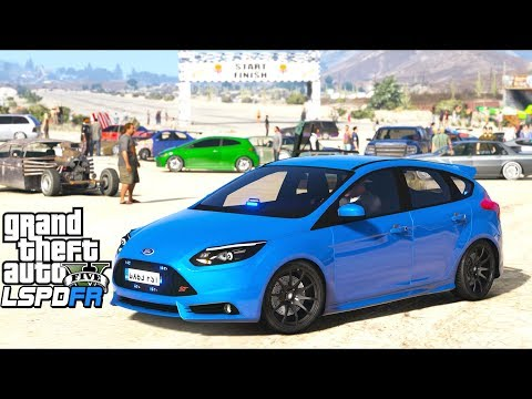GTA 5 - LSPDFR Ep473 - Undercover Focus ST Busts Illegal Drag Meet!!