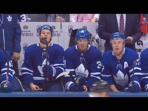 Leo Komarov 1st Goal of the Season! 10/07/17  (New York Rangers vs Toronto Maple Leafs)
