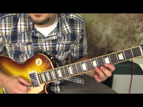 Blues Rhythm Guitar Lesson - Gibson Les Paul - Free Guitar Lessons Online - how to play