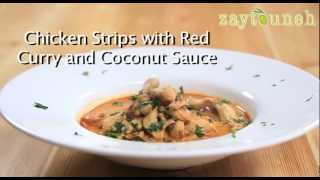 Chicken Strips With Red Curry And Coconut Sauce