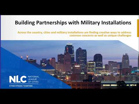 Building Partnerships with Military Installations