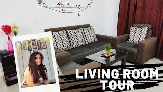 कम बजट में लिविंग रूम को ऐसे सजाये  Living Room Tour Home decoration Ideas  Indian Living Room Tour 