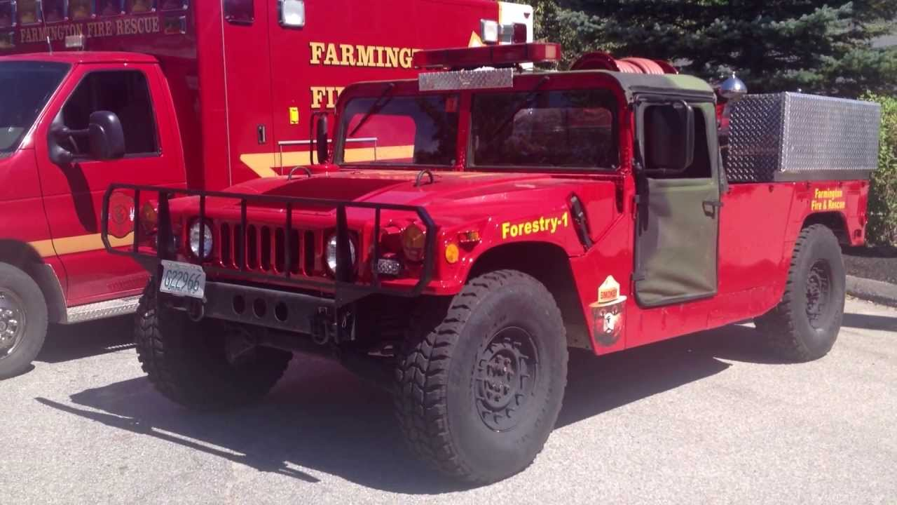 Hummer Forestry Fire Truck Unit Humvee Hmmwv H1