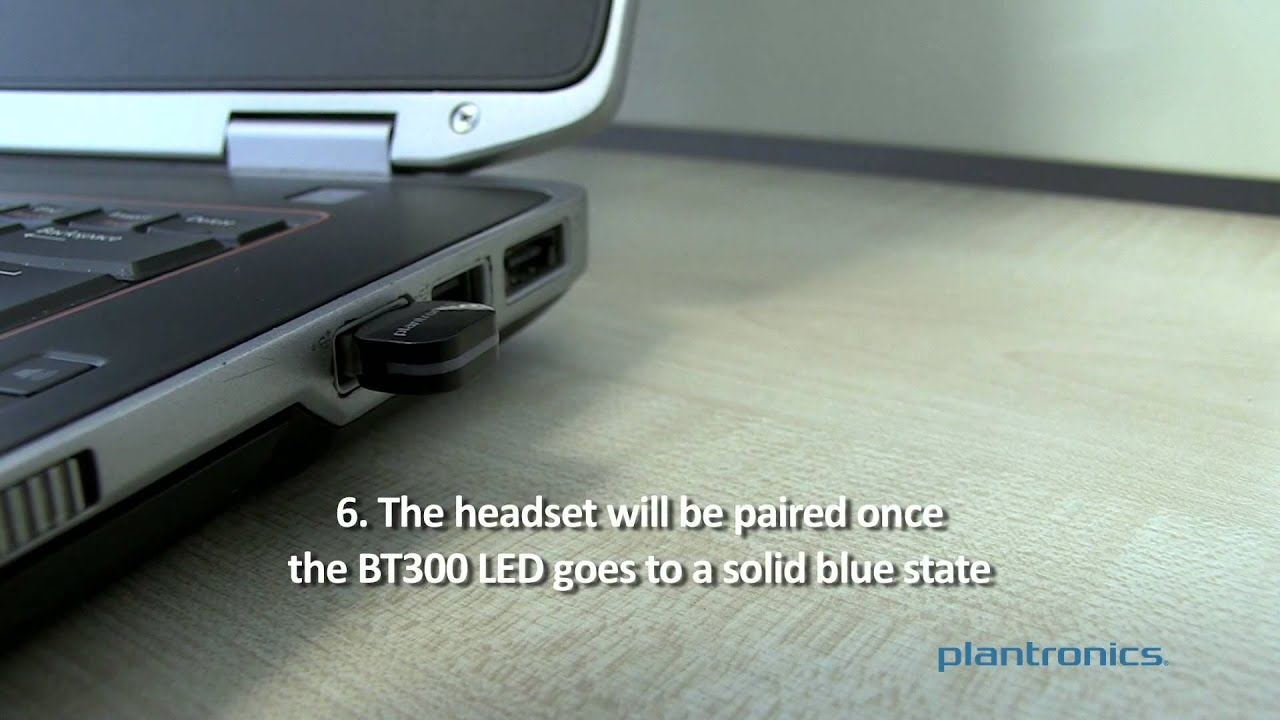 How To Pair The Voyager Legend Headset To The Bt300 Usb Adapter Youtube