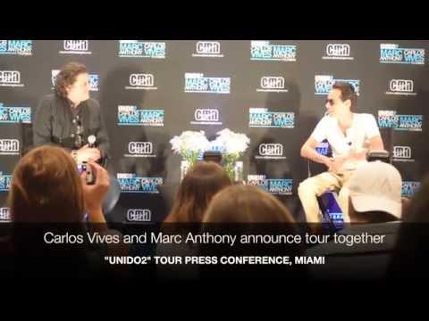 """Carlos Vives & Marc Anthony talk """"Unido2"""" tour"""