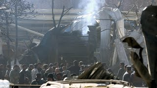 Aftermath of fatal Kabul ambulance blast