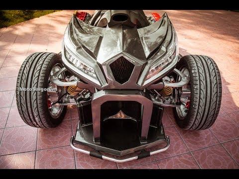 Soi chi tiết cấu tạo Honda CBR1000RR độ 4 bánh QUADBULL