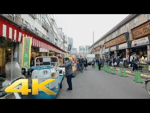 Tsukiji Fish Market, Tokyo - Long Take【東京・築地市場】 4K