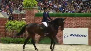 Jessica Springsteen and Lisona Winning the $25,000 Puissance at 2014 WIHS