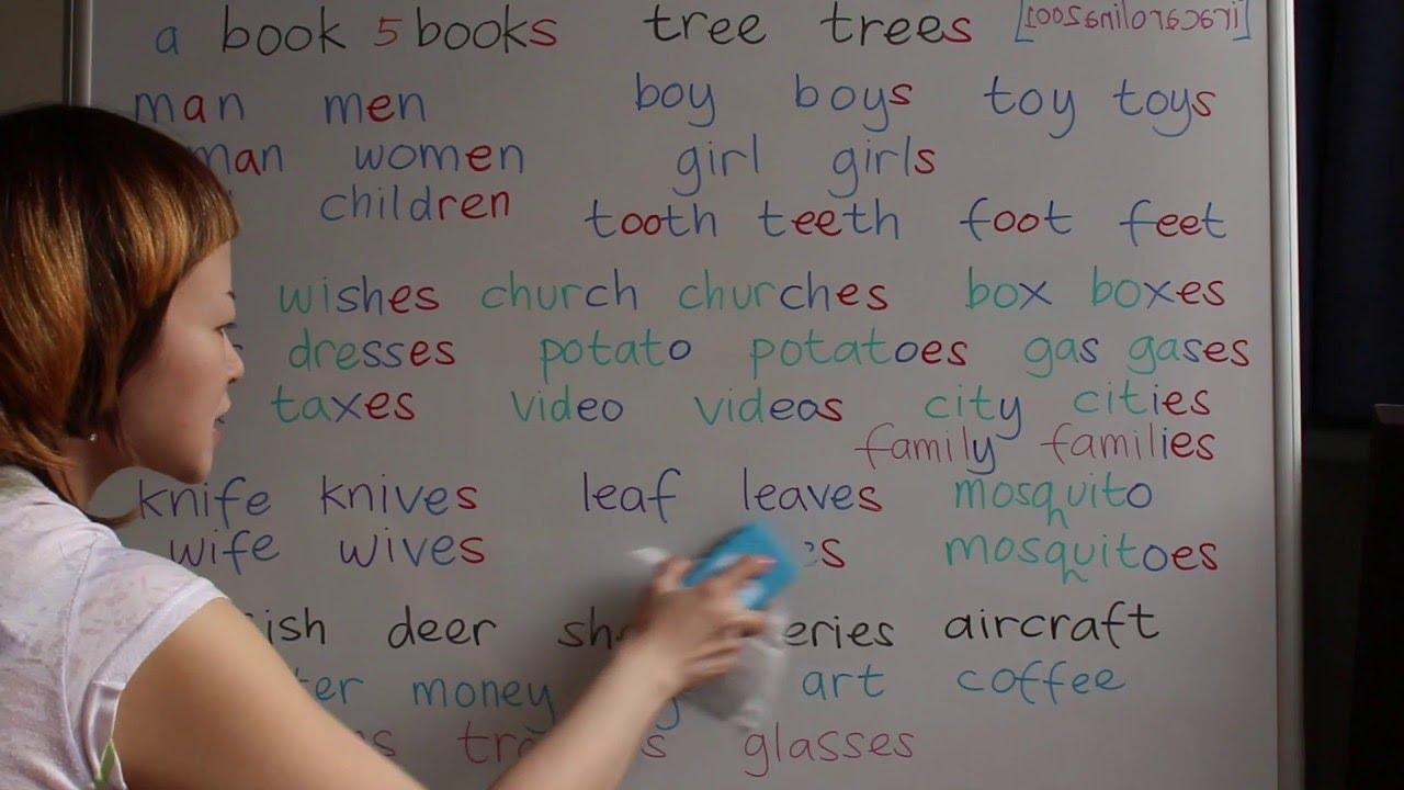 Belajar Bahasa Inggris 12 S Es Bentuk Banyak Bentuk Jamak Youtube
