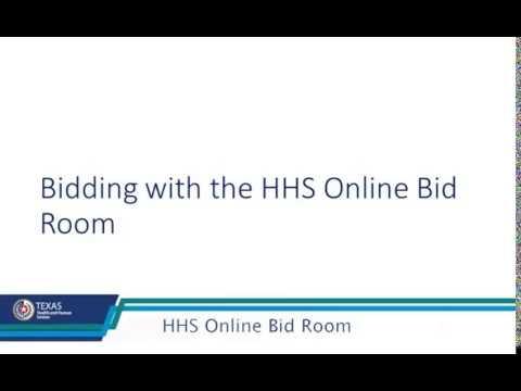 HHS Online Bid Room Tutorial  - 2 of 2 thumbnail