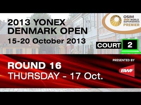 R16 (Court 2) - MD - A.S.Rasmussen / K.A.Sorensen vs Lee Y.D. / Yoo Y.S. - 2013 Yonex Denmark Open