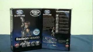 藍寶科技 sapphire ati radeon hd5450 512mb ddr3 graphics card video review