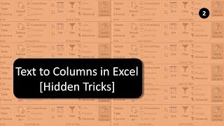 Text to Columns in Excel | Hidden Tricks | Excel 2007 to 2016