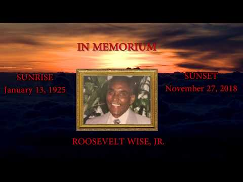 Obituary For Roosevelt  Wise Jr.