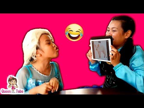 เอลซ่า อันนา เล่นเกม ทายคำ | Heads Up Challenge Elsa Vs. Anna ✔︎