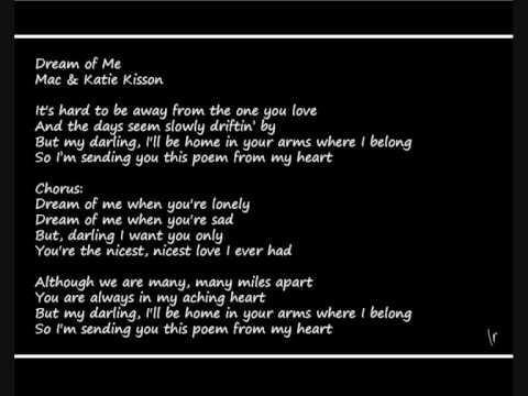 mac & katie kissoon - dream of me (when you're lonely)