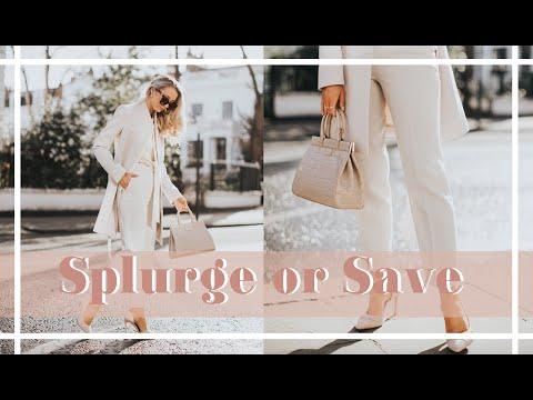 SPLURGE VS SAVE // Where to Spend - Spring Fashion // #FashionMumblrSpringEdit