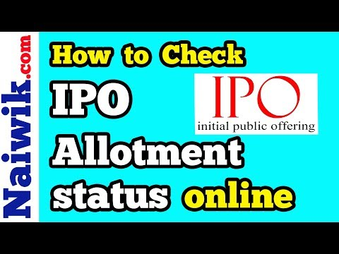 How to check IPO Allotment status || Reliance Nippon Life Asset Management Ltd