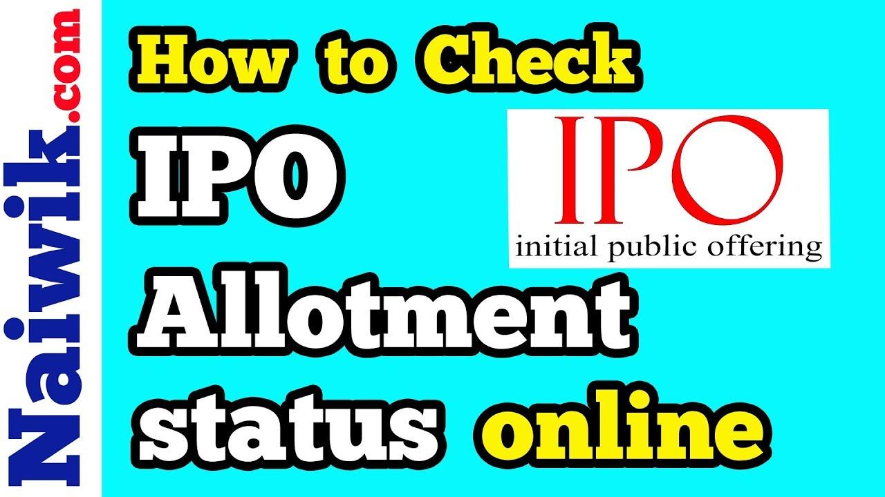 Ipo allotment status check