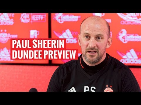 Paul Sheerin | Dundee Pre-Match Press Conference