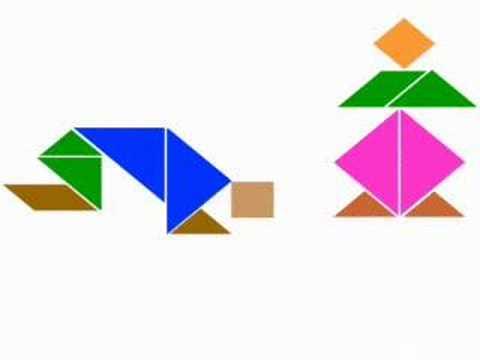 Tangram Para Colorear Recortar Y Jugar Dibujalia Blog