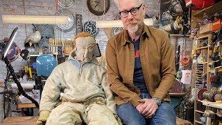 Inside Adam Savage's Cave: Leather Man Sculpture!