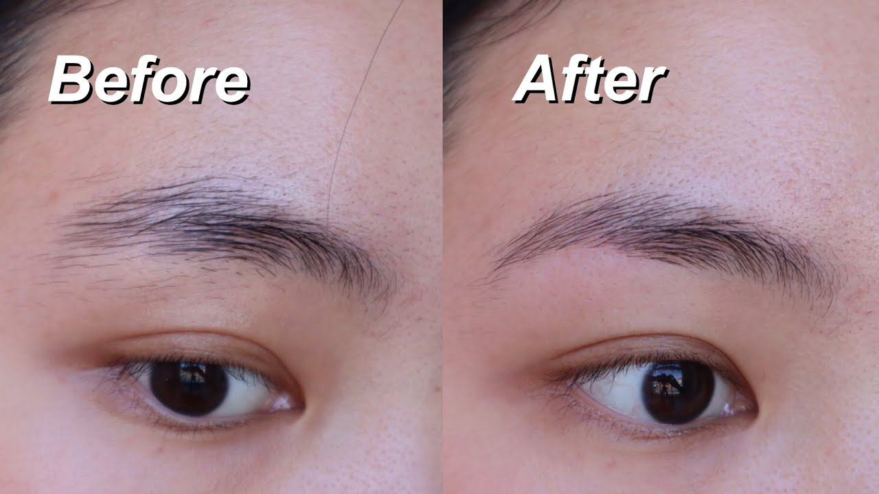 Download How to shape your eyebrows with a razor | eyebrow shaving tutorial for beginners 2020