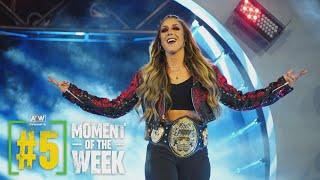 The New AEW Women's World Champion Dr. Britt Baker Celebrates!   AEW Friday Night Dynamite, 6/4/21