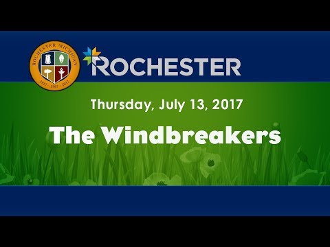 CMNtv Concert Series - Rochester Music in the Park - The Windbreakers - July 13, 2017