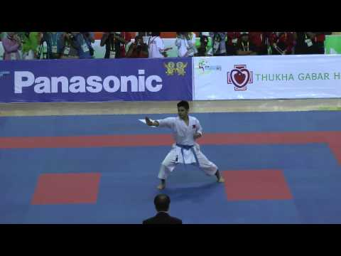 SEA Games 2013 Karate - OJ De los Santos of the Philippines vs Myanmar Travel Video