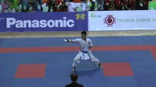 SEA Games 2013 Karate - OJ De los Santos of the Philippines vs Myanmar