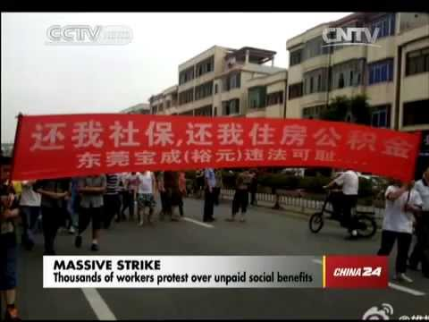 Thousands of workers protest over unpaid social benefits in China
