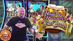 🍺NEW SLOT! 🍺Double Heidi & Hannah Hits! 👧Bier Haus JACKPOT WINS!