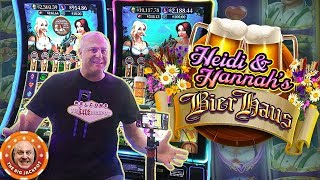 🍺NEW SLOT! 🍺Double Heidi & Hannah Hits! 👧Bier Haus JACKPOT WINS!