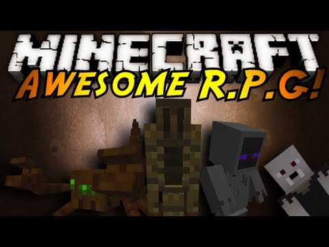 Minecraft Mod Showcase : AWESOME RPG MOD!