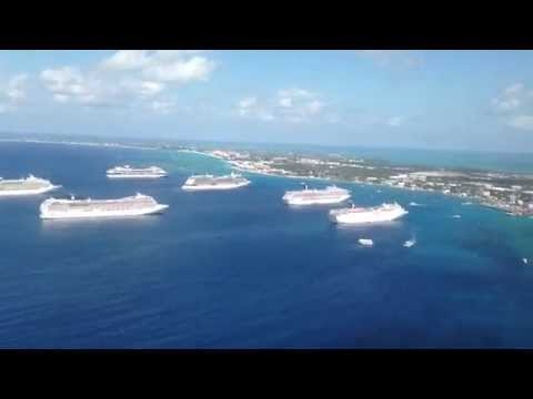 flying into Grand Cayman Airport, View from airplane