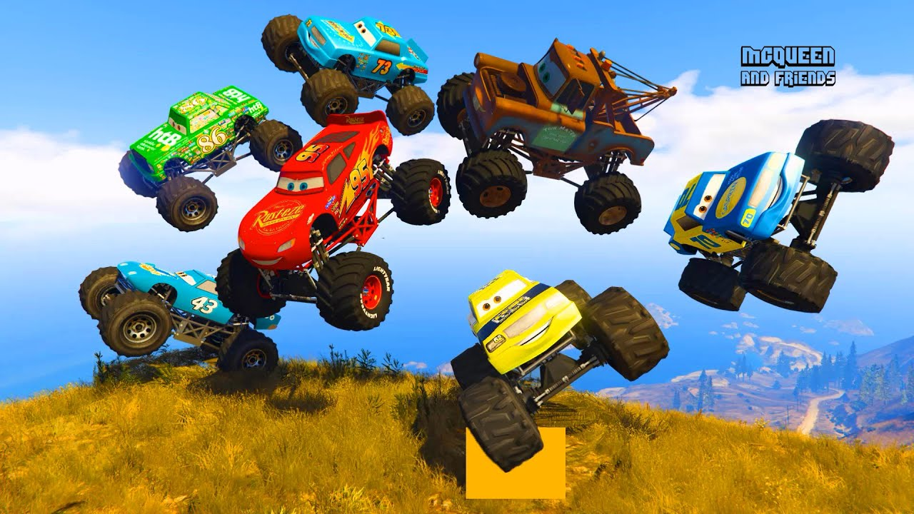 Race Cars Monster Truck Mcqueen The King Monster Truck Chick Hicks