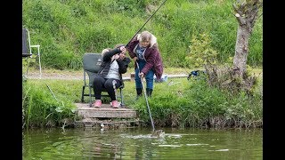 Abbie and Libby Fishing