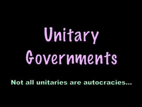 Unitary Governments